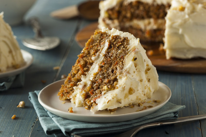 37262715 – healthy homemade carrot cake ready for easter