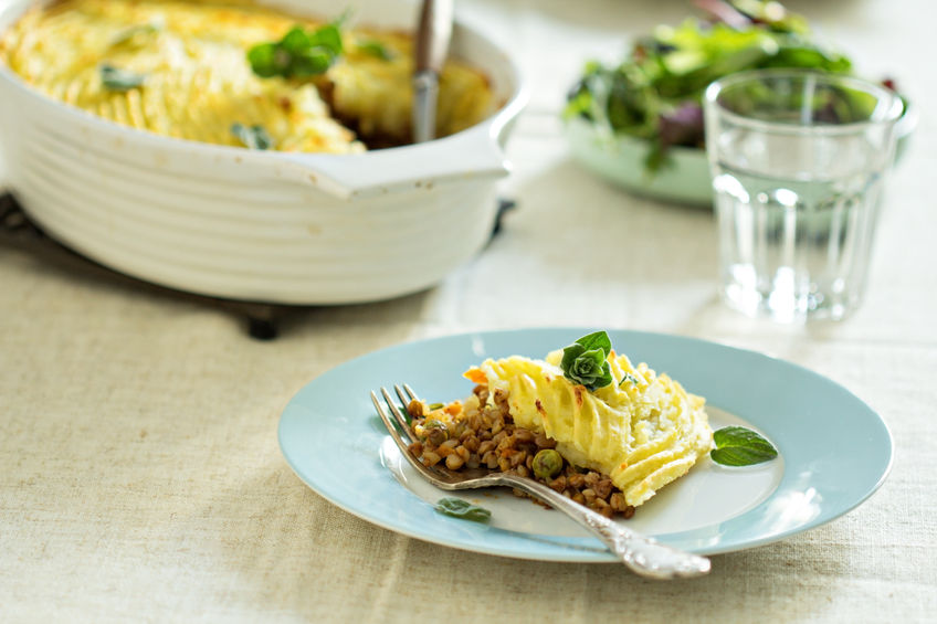 26786081 – vegan shepherd's pie with lentils and buckwheat filling